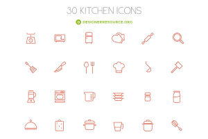 kitchen outline icons