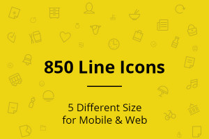 Vector Line Icons for free