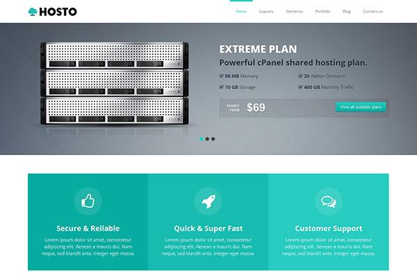 Hosto – Bootstrap Responsive HTML Template