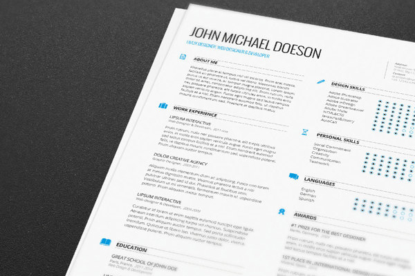 Free resume template 04