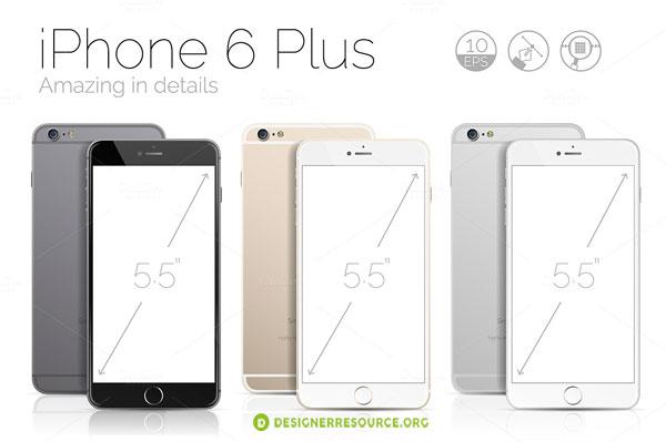 New iPhone 6 vector mockups