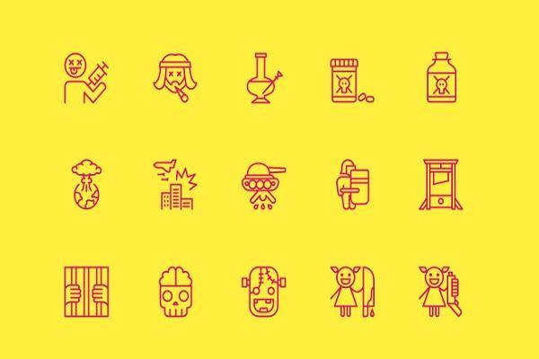 45 Nasty Icons