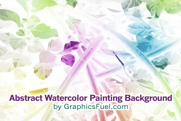 Abstract Watercolor Painting Background
