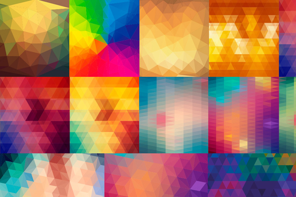 Exclusive Freebie 24 Vector Polygon Backgrounds From Freepik