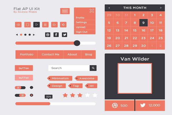 Flat AP UI Kit