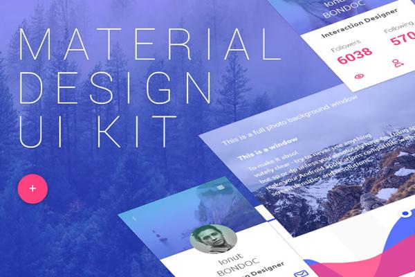 Material Design UI Kit (PSD)