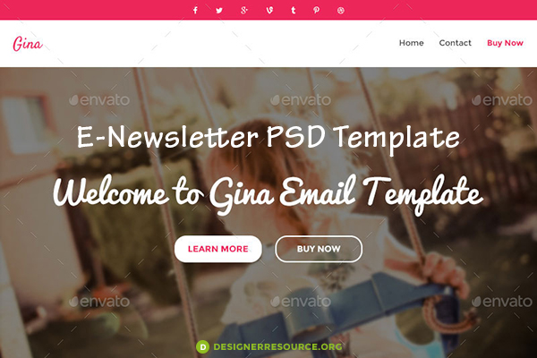16 Email PSD Template