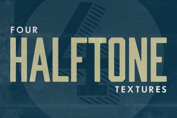 4 FREE GRUNGE HALFTONE TEXTURES