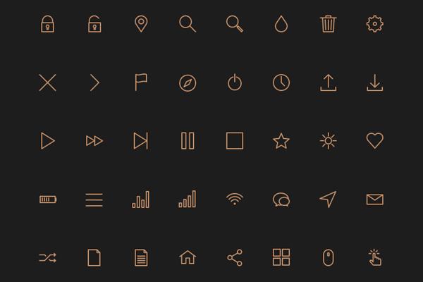80 stroke icons – PSD + AI + Webfont