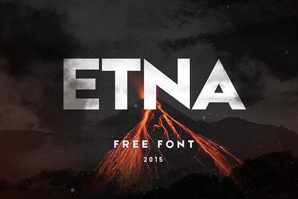 ETNA - free typeface