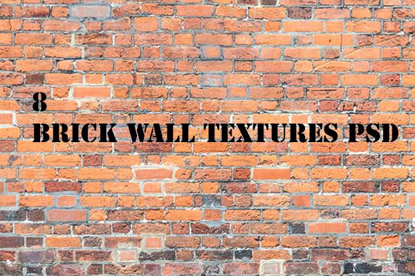 FREE 8 BRICK WALL TEXTURES PSD