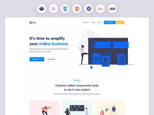 Quick Website UI Kit - Free Bootstrap 4 Theme