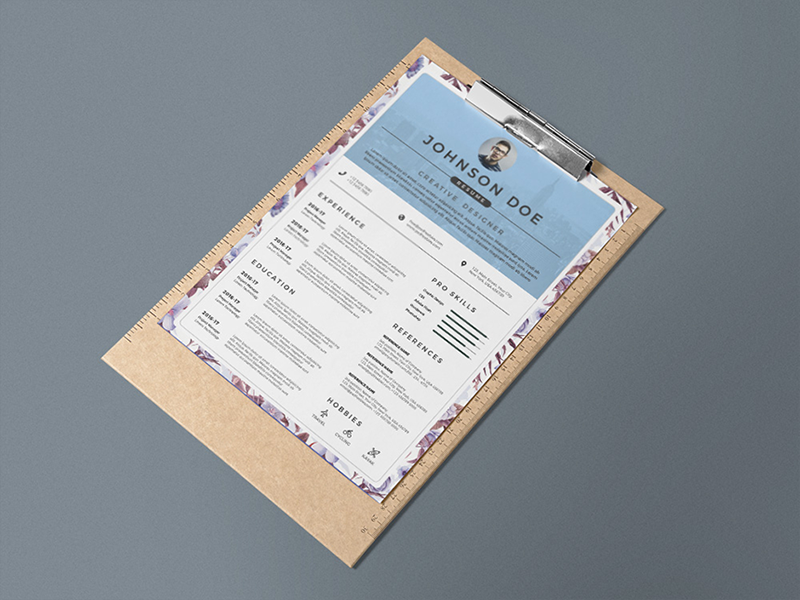 Here Is Free Floral Resume Template In PSD File Format With Clean And Elegant Look This Professionally Organized Labelled So Every